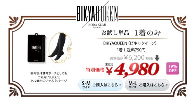 ビキャクイーン1着の価格4980円